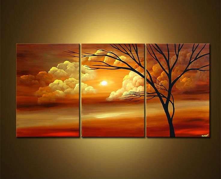 Acrylic paintings quality beautiful acrylic landscape for Acrylic mural paints