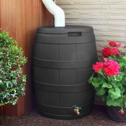 @Overstock.com - When drought sets in and rain is short, rain barrels can provide that precious water you need for your lawn and garden. The Rain Vault offers a 50-gallons capacity and a UV-resistant resin construction.http://www.overstock.com/Home-Garden/Good-Ideas-Black-Resin-Rain-Vault/6332281/product.html?CID=214117 $125.21