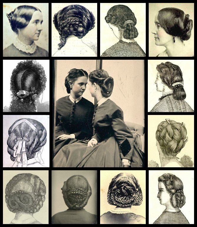 Victorian back combs and hair dressing from contemporary sources.