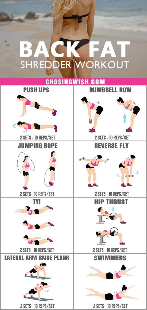 Intense Back Fat Shredder Workout für Frauen zu Hause