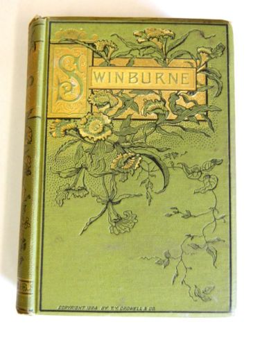 Beautiful Poetry Book Covers : D poetry book a c swinburne poems beautiful