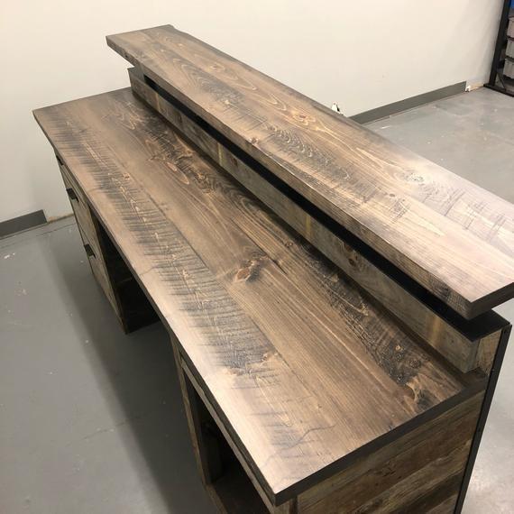 Barn Wood Reception Desk // Front Counter // Modern Desk // Hostess