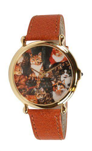 Women's watch Features Cats #watch #womenswear #womenswatch #leather #cats #kitty #kitties #kitten #style #wristwatch $20 @Kitty Purring
