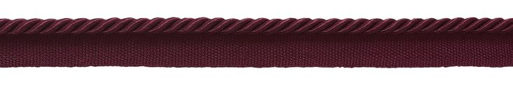 """Small 3/16"""" Burgundy, Basic Trim Lip Cord, Sold by The Yard , Style# 0316S Color: RUBY - E10"""