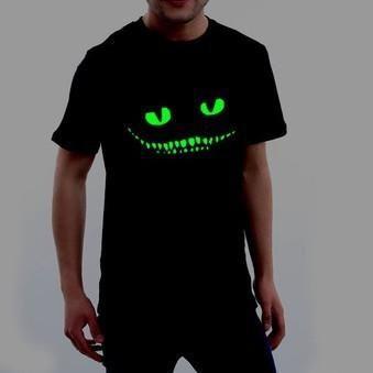 Dark Devil Cheshire Cat Night Light Short Sleeve Men's Women's T-shirt