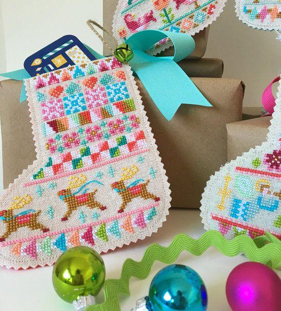 Mini Christmas Stockings  set of four charts  by SatsumaStreet