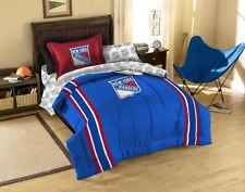 New York Rangers NHL Licensed 5 Piece Twin Comforter Bed Set In A Bag