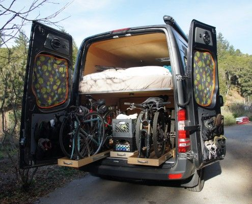 Sprinter DIY Build-Out with Bike Racks | Camper Van ...