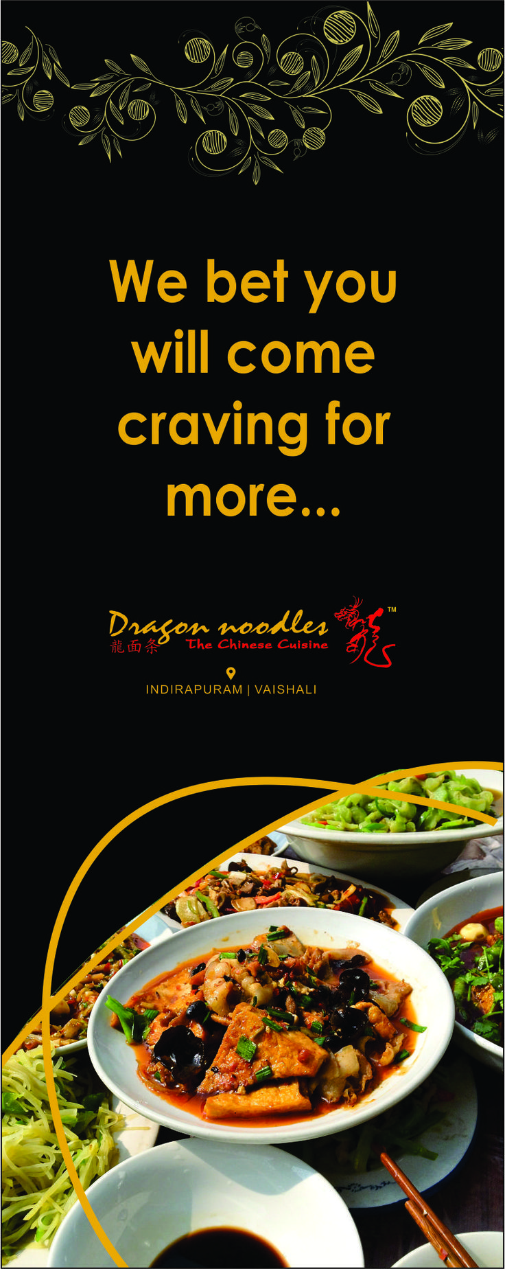 We make your dining experience worthwhile through a blend of tasteful food, good ambience and flawless service. #DragonNoodles #Chinese #Food #Ghaziabad #foodies