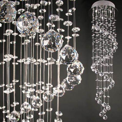 Lámpara de techo en techo lámpara de araña lámpara de araña de cristal colgante
