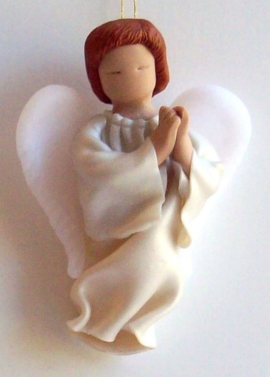 Christmas angel polymer clay for nativity set by Cleirigh on Etsy etsy.com