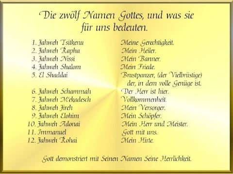 Namen Gottes In Der Bibel