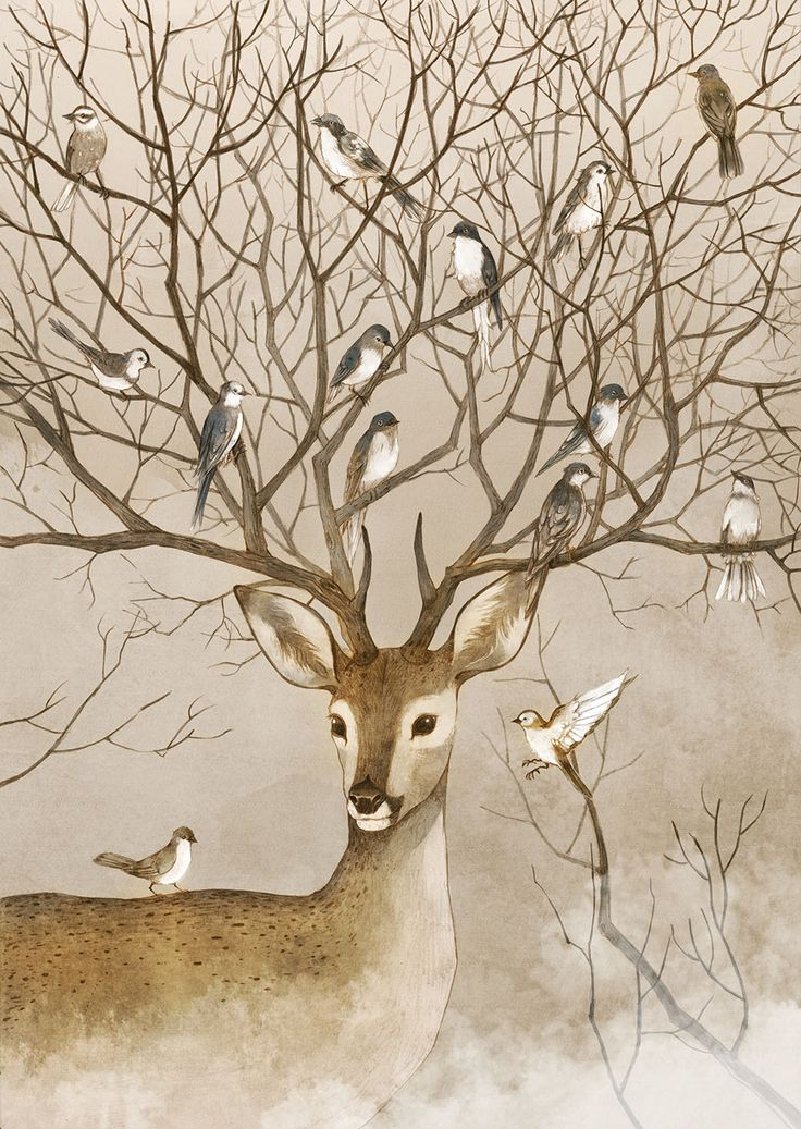 Lovely Storybook Illustrations of People Communing with Nature by Jin Xingye | Colossal