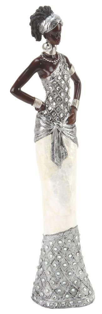 Juliana Ebony Effect Crystal African Masai Figurine Gift Ornament Standing 39cm in Collectables, Decorative Ornaments/ Plates, Figurines/ Figures/ Groups | eBay