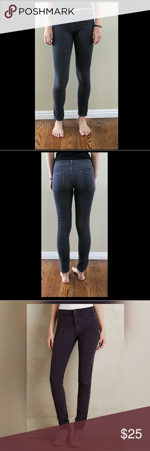 """Pilcro and The Letterpress Grey Legging Jeans A sleek and straight corduroy legging complete with give galore. From Pilcro, an Anthropologie-exclusive collection crafted from the highest quality denim. Model is 5'9"""" Anthropologie Jeans Skinny"""