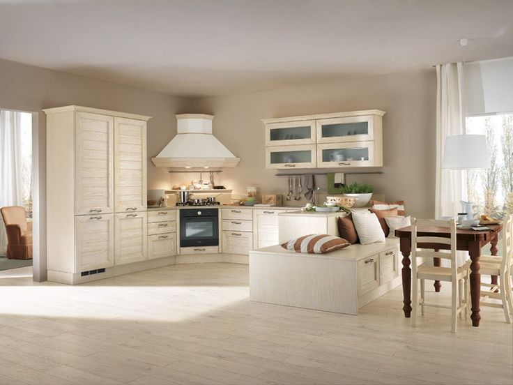 Decapé ash kitchen with handles Claudia Collection by Cucine Lube