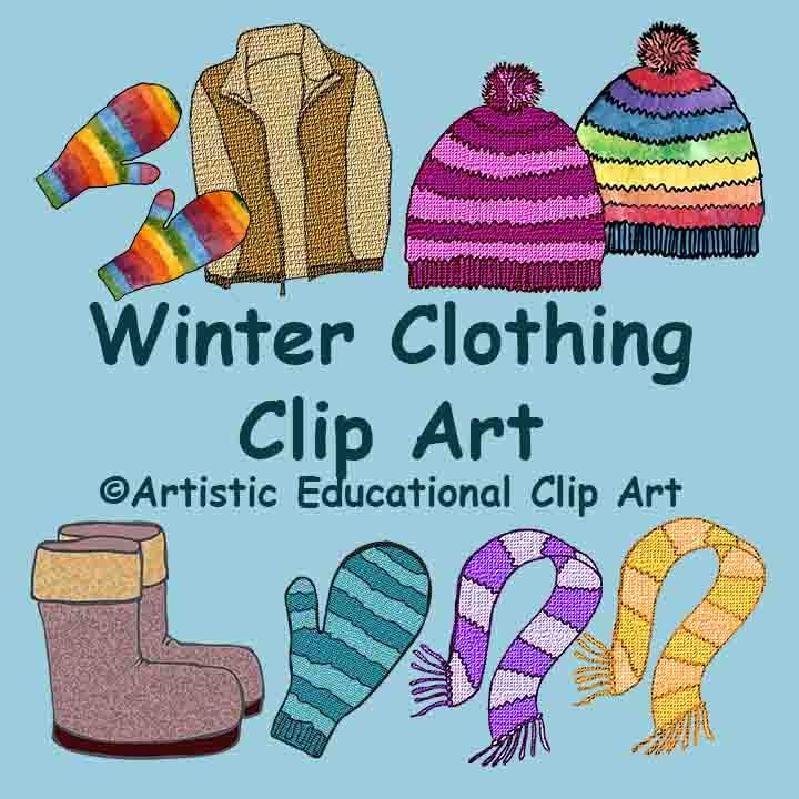 clipart winter clothing - photo #38