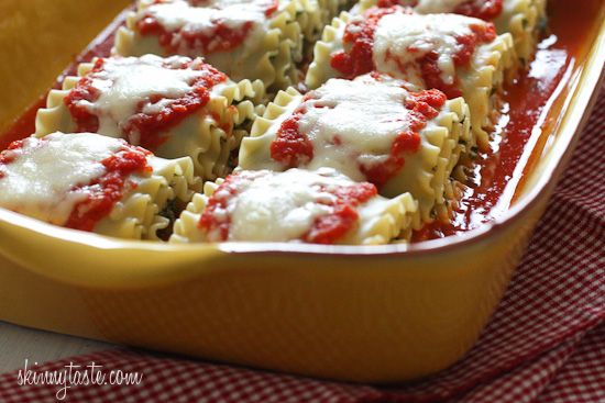 Mushroom Kale Lasagna Rolls- I can't think of a better way to eat kale ...