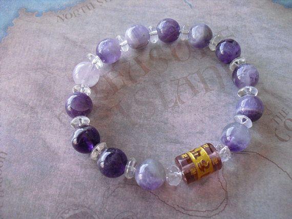Gorgeous amethyst gemstone bracelet by Shynnasplace on Etsy, $40.00