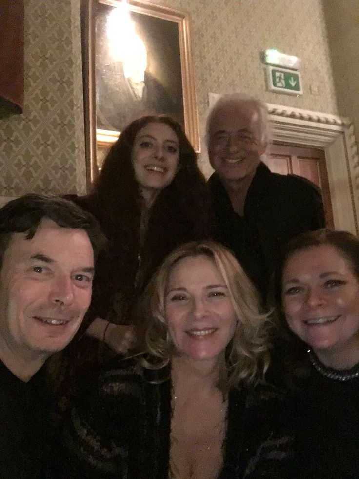 Jimmy Page in Belfast this week with his girlfriend Scarlett Sabet. They attended a performance by Van Morrison, and met author Ian Rankin and actress Kim Cattrall.