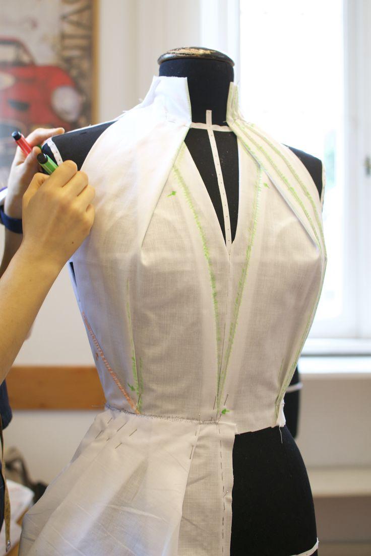 #moulage #draping #daniloattardi #tridimensional #students #fashionschool