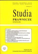 Wydawnictwo Naukowe Scholar :: :: 2006 STUDIA PRAWNICZE nr 4 UWAGA!!! Do kupienia WYŁĄCZNIE w PDFie
