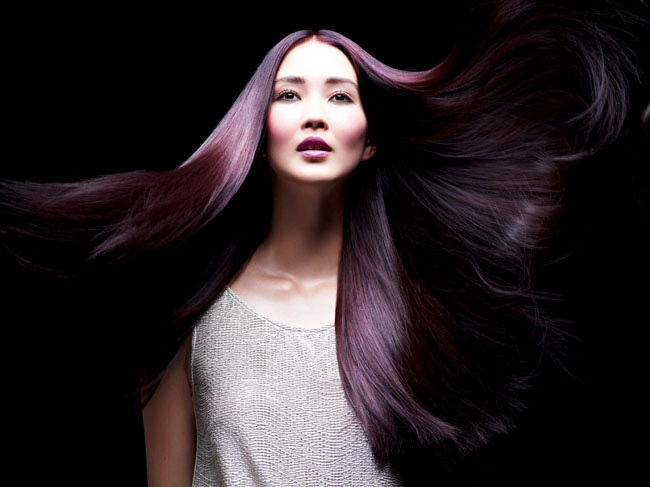 purple and dark brown