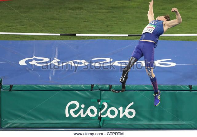 T42 Men's High Jump at the Rio 2016 Paralympic Games. (Stock Photo)  Contributor:Pacific Press / Alamy www.alamy.com http://www.alamy.com/stock-photo-brazil-09th-sep-2016-grewe-sam-usa-taking-the-t42-mens-high-jump-during-118515620.html