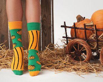 Zucca malassortiti calzini | Halloween | Autunno | calze uomo | calzini variopinti | fresco di calzini | calze donna | calzini pazzi | fantasia calze casual