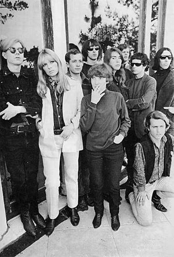 The Velvet Underground & Nico with Andy Warhol at The Factory.                                                                                                                                                      Plus