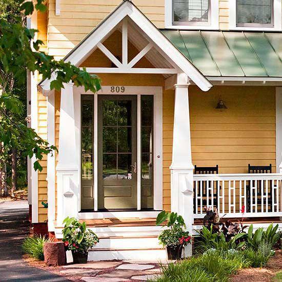 Front Door Roof: Front Doors, Metal Roof And Paint