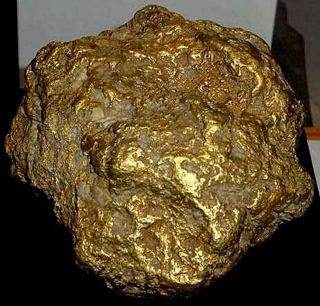 La pepita de oro más grande jamás encontrada en Alaska (294 onzas).
