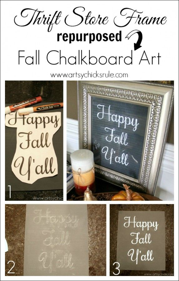 """Happy Fall Y'all"" Chalkboard Art Tutorial"