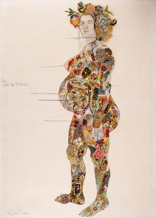 Portrait of pregnant Clarice Rivers by Niki de Saint Phalle