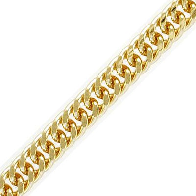 Chain, 8x10.5mm, 1.6mm wire, gold plate, 5 meters
