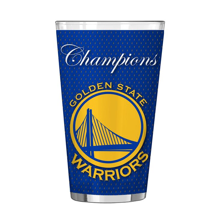 Boelter Golden State Warriors 2017 NBA Champions Pint Glass, Multicolor