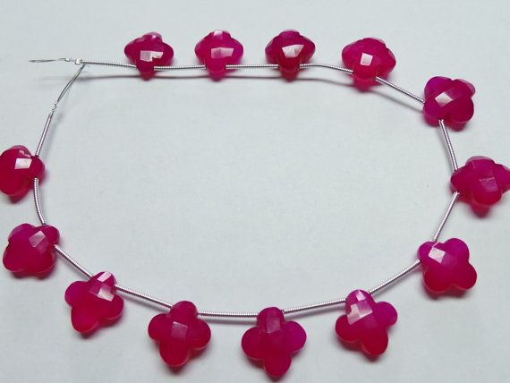 Hot Pink Chalcedony 11 MM Size 10 Strand Faceted by StarGemBeads