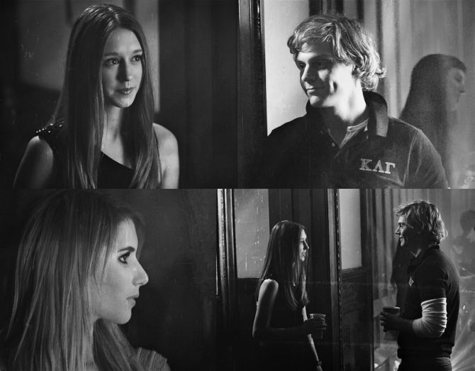Emma Roberts And Taissa Farmiga: Taissa Farmiga As Zoe, Evan Peters As Kyle And Emma