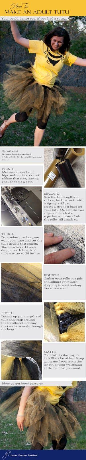 Hyvää Päivää Textiles: How to Make an Adult Tutu
