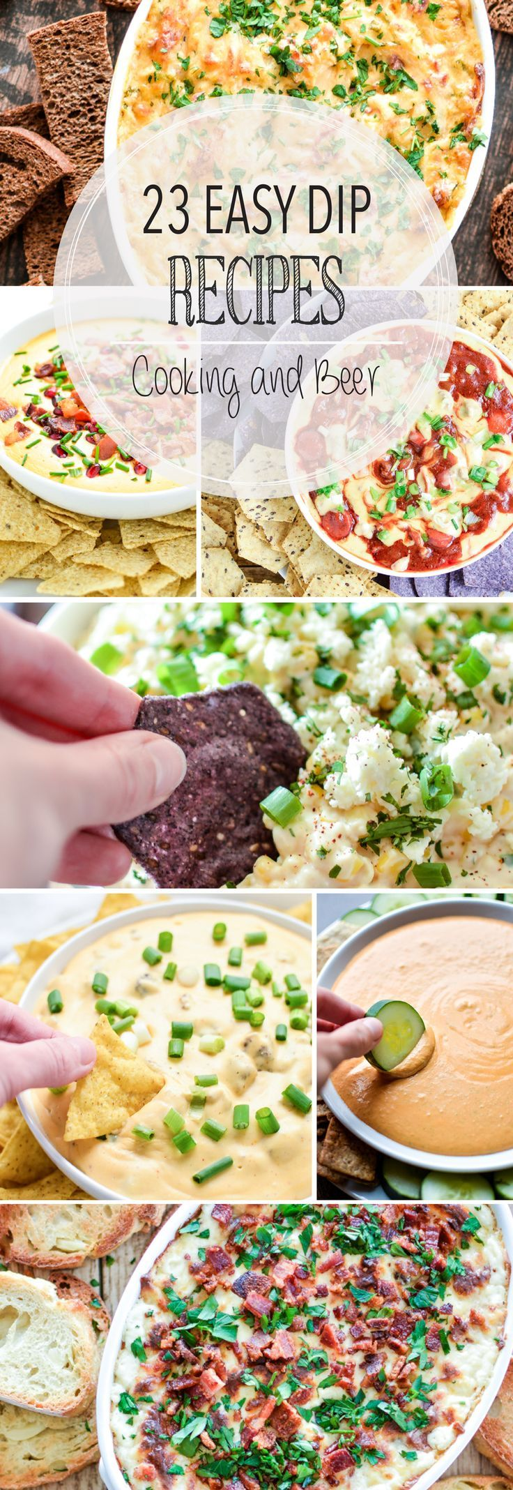 From guacamole to warm reuben dip and from goat cheese to Mexican corn dip, here are 23 easy dip recipes for your next game day party!