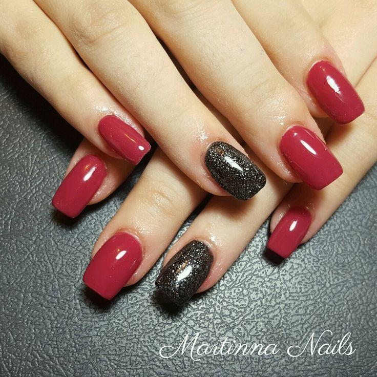 Red And Black Nails Red Black Nails Red Nail Designs Black Gel Nails