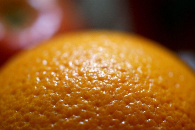 People swear cellulite looks like the rind of an orange... really?