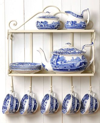 Spode Serveware, Blue Italian Collection - Serveware - Dining & Entertaining - Macy's