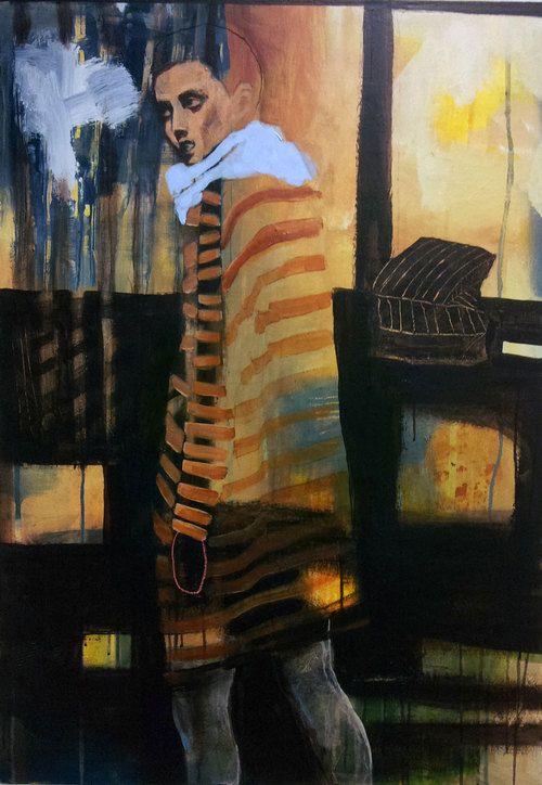 STRIPER BY ANNE-BRITT KRISTIANSEN  #fineart #art #painting #kunst #maleri #bilde  https://annebrittkristiansen.com/paintings/2013/