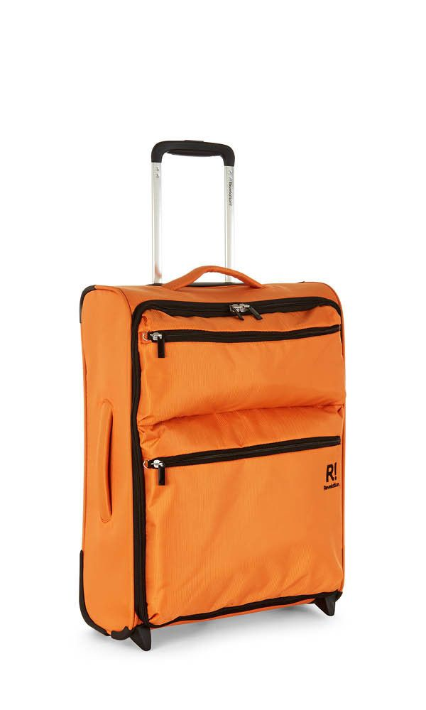 £29 Weightless D4 Cabin Suitcase 55x40x20cm Orange | Soft Suitcase | Revelation!