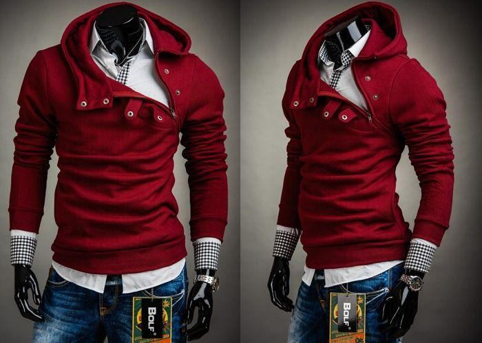 BOLF 06 - BORDOWY | Odzież Dla Niego \ Bluzy męskie \ Bluzy z kapturem Kolekcja Męska | Denley - Odzieżowy Sklep internetowy | Odzież | Ubrania | Płaszcze | Kurtki