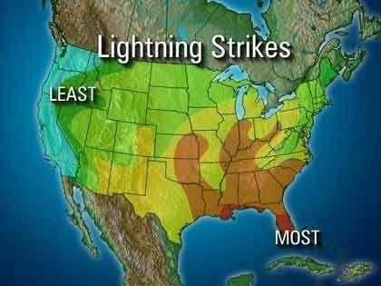 The Best Live Lightning Strikes Ideas On Pinterest Tornado - Map of lightning strikes in the us