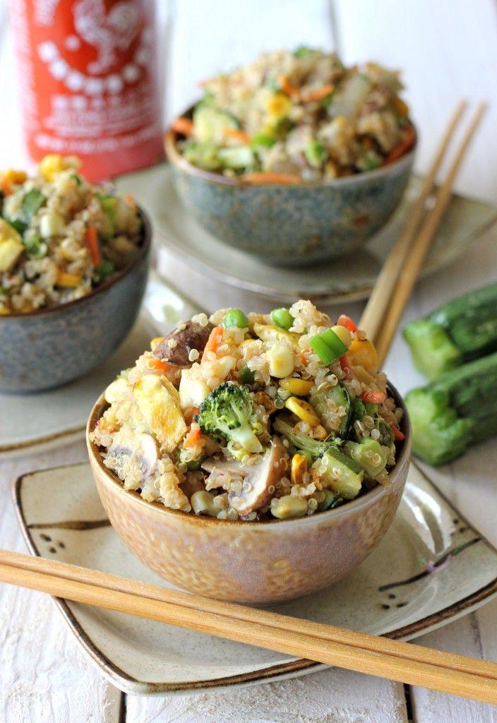 Voici une alternative sympa du riz frit thaï - sans riz  Ingrédients: 1 brocoli 2 carottes 80 g de maïs 2 gousses d'ail 1 cuillère à soupe de gingembre frais 2 oignons verts 200 grs de champignons de paris 1 petit oignon 80 g de de petits pois surgelés