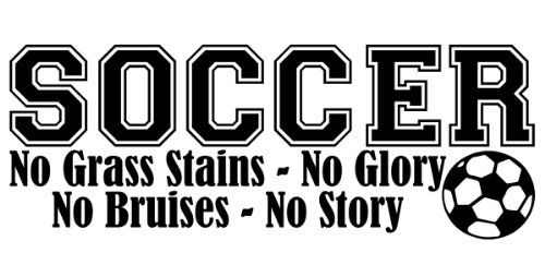 "(Black, 28""W x 13""H) Soccer No Grass Stains Vinyl Wall Decal Quotes Wall Stickers Bedroom Decals Home Decor Decals WallDecalQuote http://www.amazon.com/dp/B00I6136MO/ref=cm_sw_r_pi_dp_Uuxoub1MPYPSR"