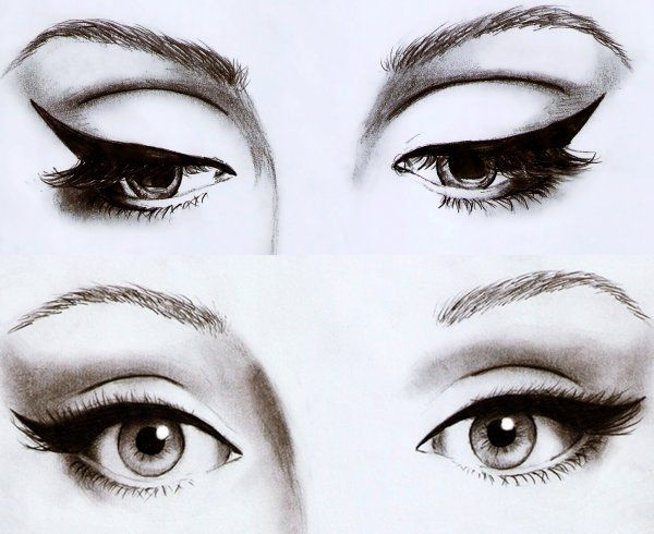 dessin maquillage yeux filles pinterest maquillage yeux yeux et maquillage. Black Bedroom Furniture Sets. Home Design Ideas